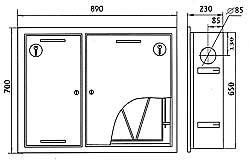 Шкаф пожарный схема