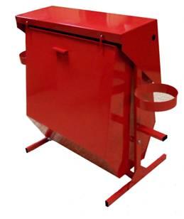 Стенд противопожарный поворотный с бункером для песка (Разборный) купить