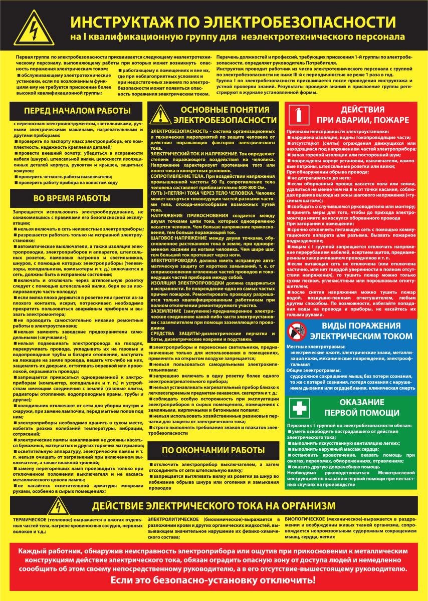 конспект обучения вопросам электробезопасности вашему